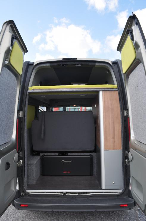 Rear View with Pioneer sub woofer